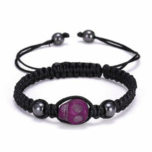 Jewelry - SKULL BRACELET - Braided Rope Cord - Rave Festival